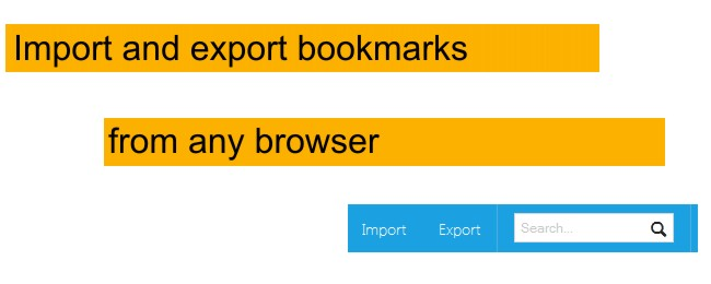 Import/export bookmarks